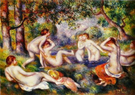 Renoir, Pierre Auguste: Bathers in the Forest. Fine Art Print/Poster. Sizes: A4/A3/A2/A1 (004262)